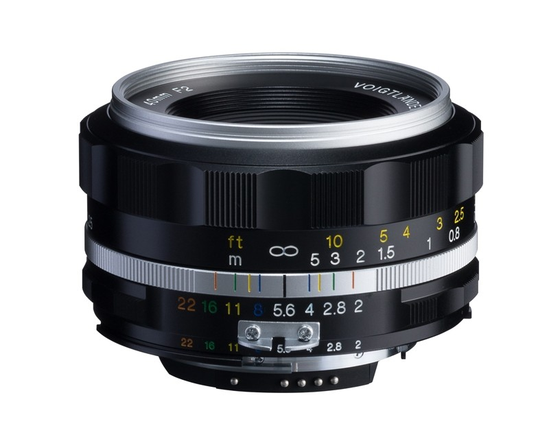 Voigtlander 40mm f2 SL II-S Ultron Nikon Fit Silver Lens