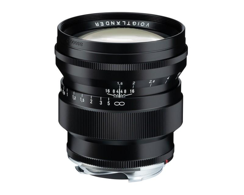 Voigtlander 75mm f1.5 VM ASPH Vintage Line Nokton Black Lens