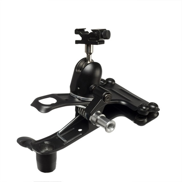 Quantum QF71 Studio Clamp with Ball & Socket Head and Flash Shoe