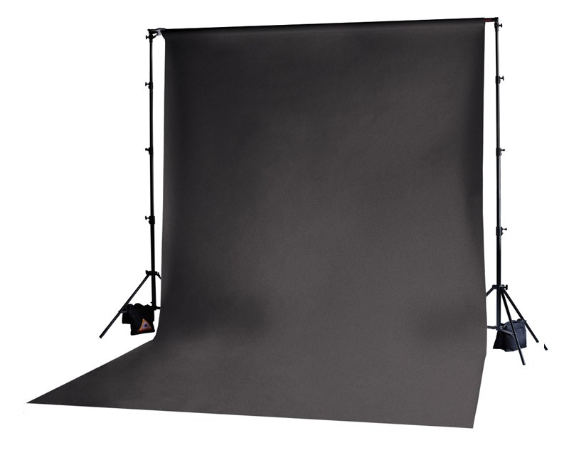 Photoflex Black Solid Muslin Backdrop 3m x 3.65m