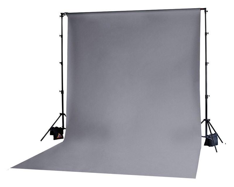 Photoflex Grey Solid Muslin Backdrop 3m x 6m
