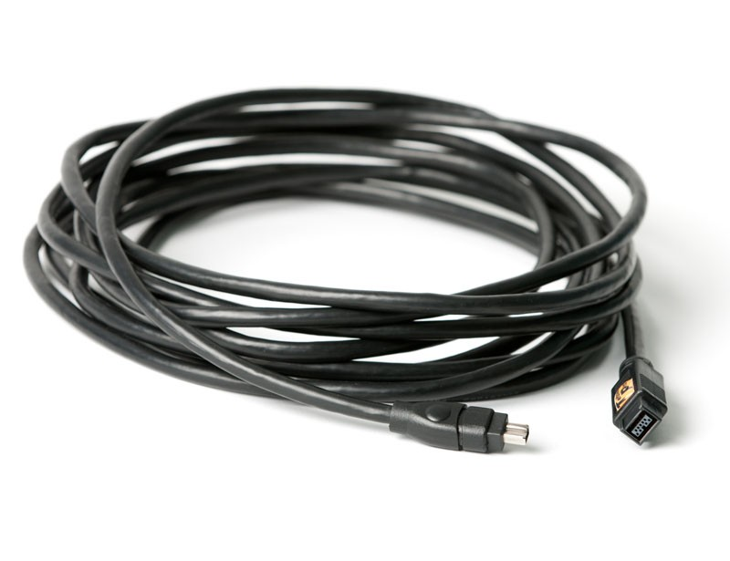 TetherTools FWB149BLK TetherPro FireWire 800/400 9 Pin to 4 Pin 15' (4.6m) Cable
