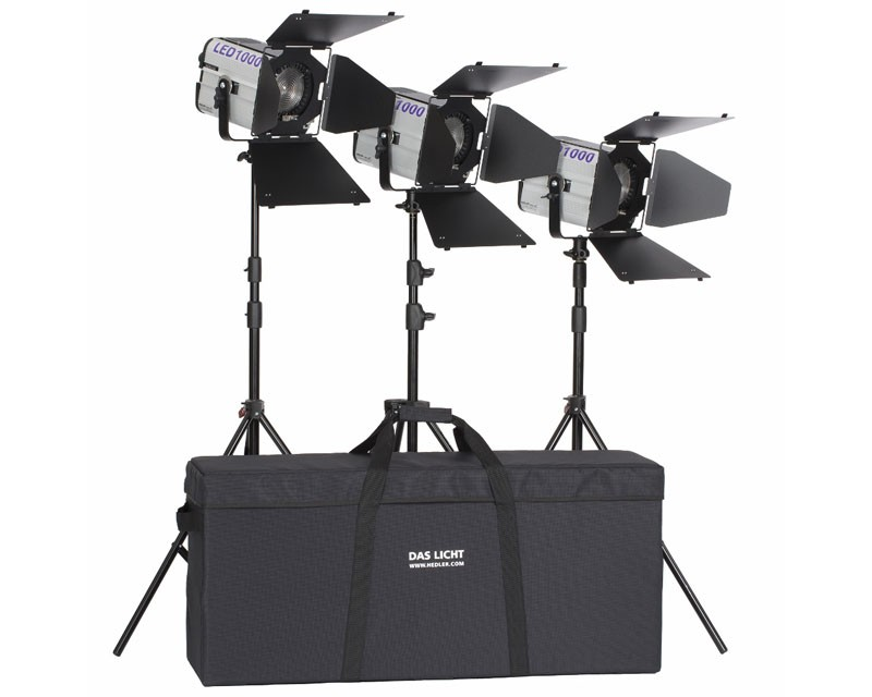 Hedler Profilux LED 1000 3 Head Lighting Kit