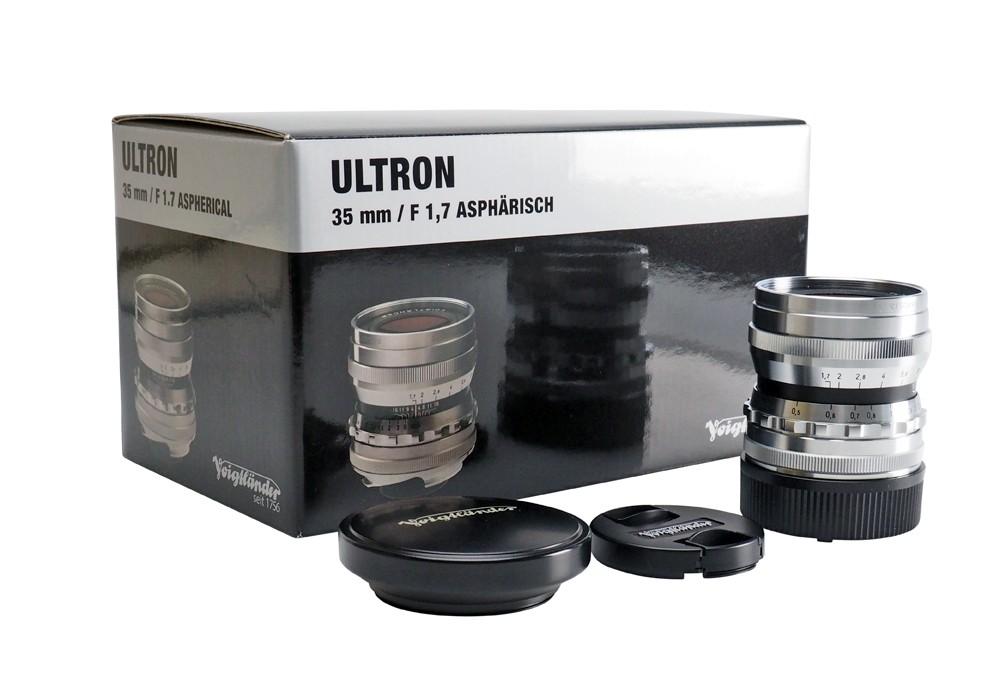 Ex-Demo Voigtlander 35mm f1.7 VM ASPH Vintage Line Ultron Silver Lens