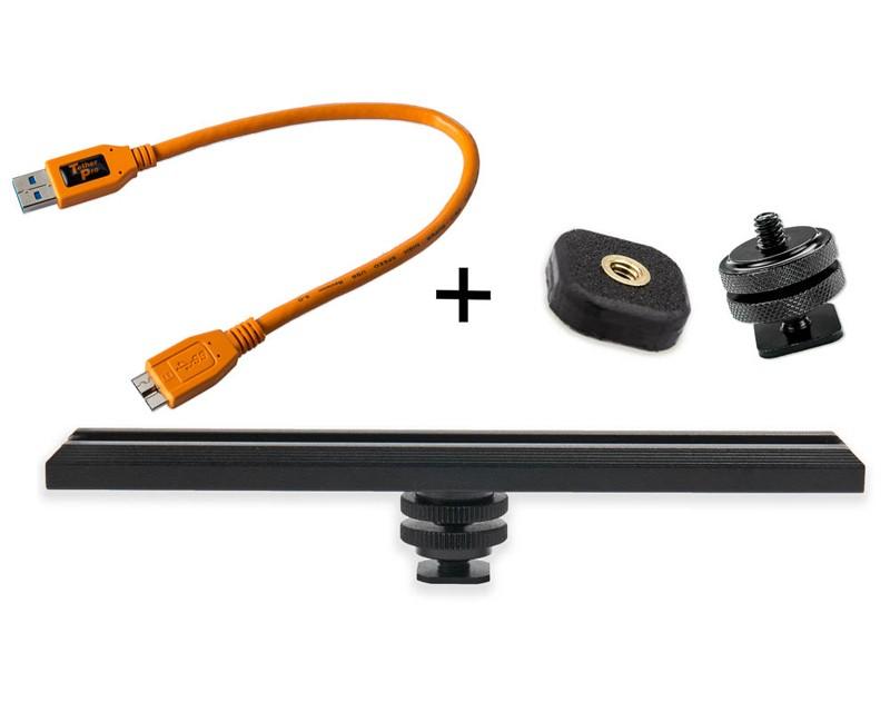 TetherTools RS317ORGKT CamRanger Camera Mounting Kit w/ USB 3.0 Mini-B 5 Pin 1' (30cm) Orange