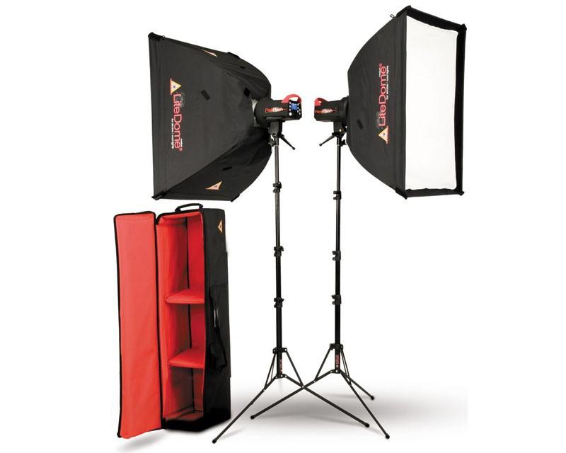 Photoflex FlexFlash 200W Monobloc Strobe 2 Head LiteDome Kit