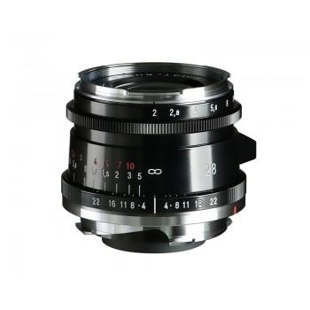 Voigtlander 28mm f2 VM Ultron Vintage Line ASPH Type II Lens Black