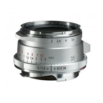 Voigtlander 35mm f2 VM ASPH ULTRON Vintage Line Type II Silver Lens
