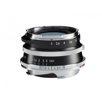 Voigtlander 35mm f2 VM ASPH ULTRON Vintage Line Silver Lens