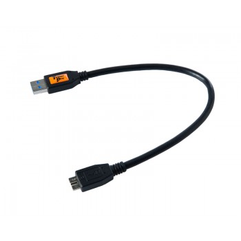 TetherTools CU5404BLK TetherPro USB 3.0 SuperSpeed Male A to Micro B 1' (0.3m) Cable Black