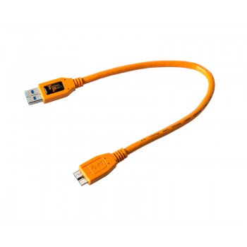 TetherTools CU5404ORG TetherPro USB 3.0 SuperSpeed Male A to Micro B 1' (0.3m) Cable Orange