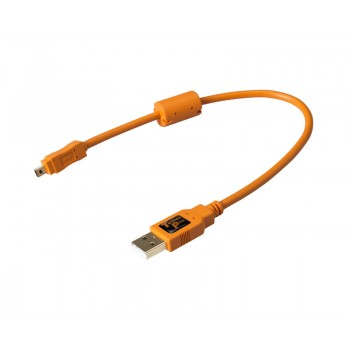 TetherTools CU8001-ORG TetherPro USB 2.0 Male to Mini-B 8pin 1' (30cm) Cable Orange
