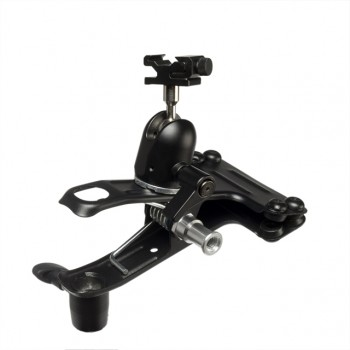 Quantum Studio Clamp with Ball & Socket Head and Flash Shoe