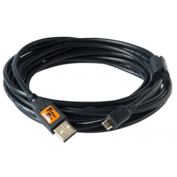 TetherTools CU5430BLK TetherPro USB 2.0 Male A to Micro B 5 Pin 4.6m Cable Black