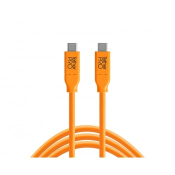 TetherTools CUC15-ORG TetherPro USB-C to USB-C, 15' (4.6m) Orange Cable