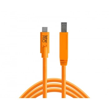 TetherTools CUC3415-ORG TetherPro USB-C to 3.0 Male B, 15' (4.6m) Orange Cable