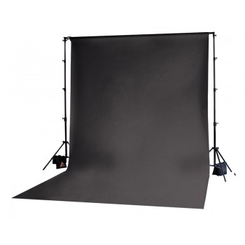 Photoflex Black Solid Muslin Backdrop 3m x 6m
