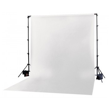 Photoflex White Solid Muslin Backdrop 3m x 3.65m
