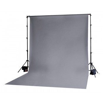 Photoflex Grey Solid Muslin Backdrop 3m x 3.65m