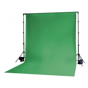 Photoflex Chromakey Green Solid Muslin Backdrop 3m x 3.65m