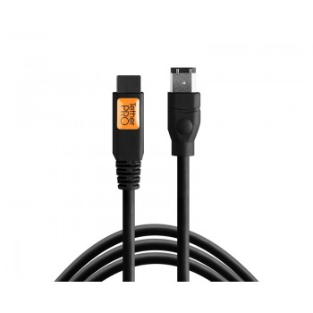 TetherTools FW84BLK TetherPro FireWire 400/800 9 Pin to 6 Pin 15' (4.6m) Cable