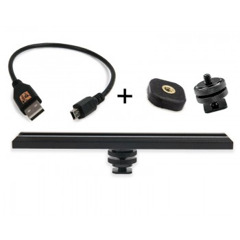 TetherTools RS315BLKKT CamRanger Camera Mounting Kit w/ USB 2.0 Mini-B 8 Pin 1' (30cm) Black