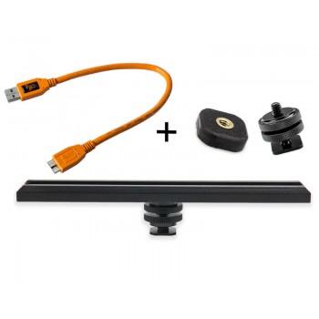 TetherTools RS315ORGKT CamRanger Camera Mounting Kit w/ USB 2.0 Mini-B 8 Pin 1' (30cm) Orange
