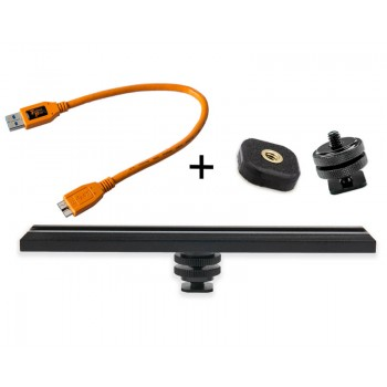TetherTools RS317ORGKT CamRanger Camera Mounting Kit w/ USB 3.0 Mini-B 5 Pin 1' (30cm) Orange