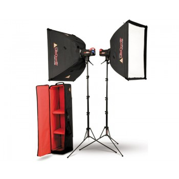 Photoflex FlexFlash 200W Monobloc Strobe 2 Head LiteDome Kit