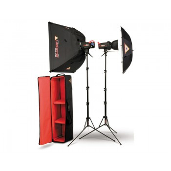 Photoflex FlexFlash 400W Monobloc Strobe 2 Head LiteDome/Umbrella Kit