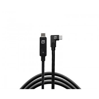 TetherTools TetherPro USB-C to USB-C Right Angle Black CUC15RT-BLK
