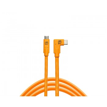 TetherTools TetherPro USB-C to USB-C Right Angle Orange CUC15RT-ORG