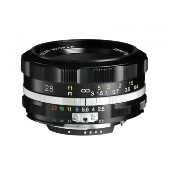 Voigtlander 28mm f2.8 Aspherical SL II-S Color-Skopar Nikon Fit Black Lens