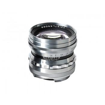 Voigtlander 50mm f1.5 VM ASPH Vintage Line Nokton Silver Lens
